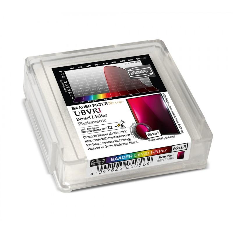 Filtre bleu CCD, section carree 65 mm
